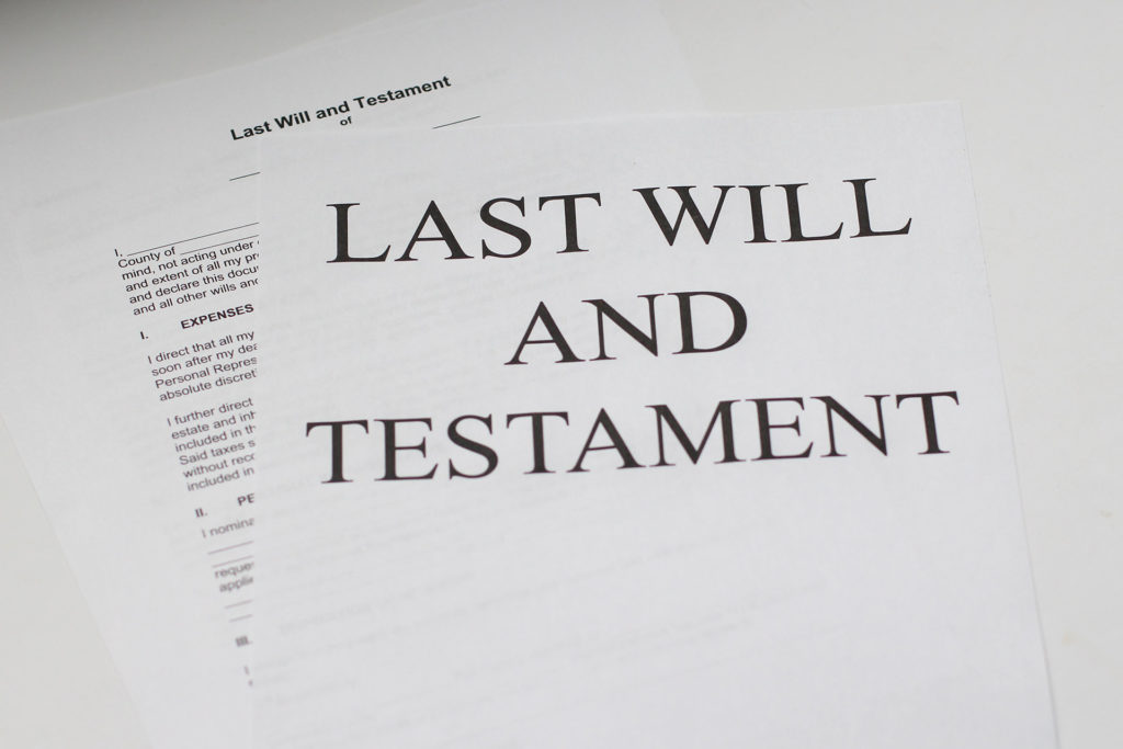 The importance of a will. Cover image of last will and testament
